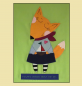 "Preview: Patchworkbild, Patchwork, Quilt, ""Fox,who dreams about the sea"""