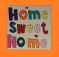 "Preview: Näh-Set - Patchworkbild, Patchwork, Quilt, ""Home Sweet Home"""