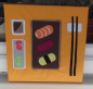 "Preview: Patchworkbild, Patchwork, Quilt, ""Sushi Set"""